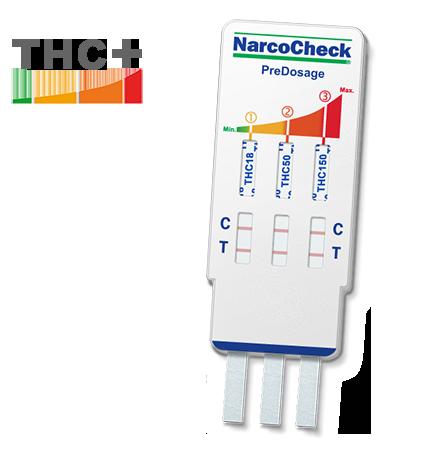 Test della cannabis (THC) con pre-dosaggio - 3 livelli